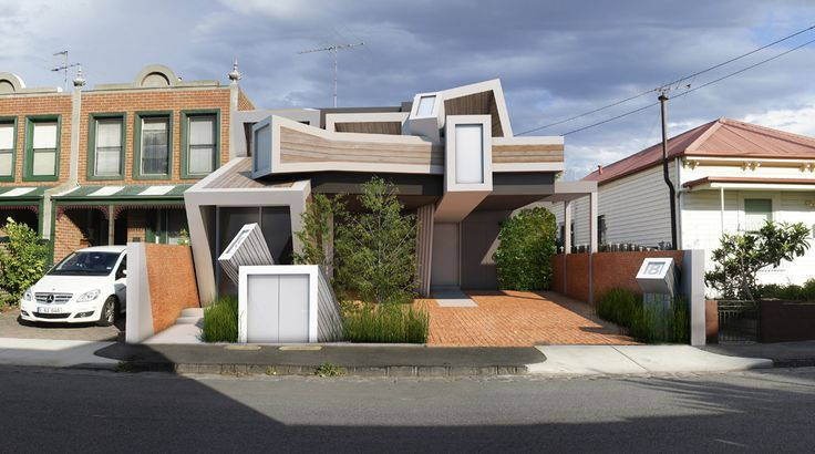 Duckbuild Architecture - Residential Exterior (Visualisation) - Currently under construction - Port Melbourne Townhouses
