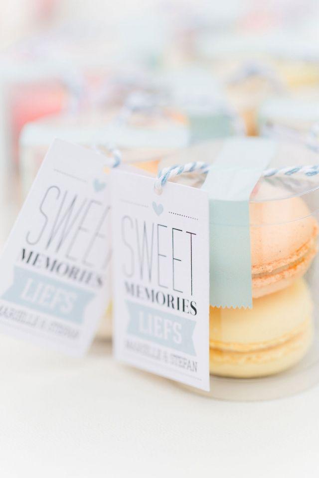 #macarons #huwelijksbedankje