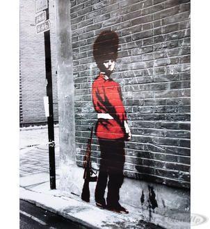 Banksy Poster Queens Guard Hier bei www.closeup.de