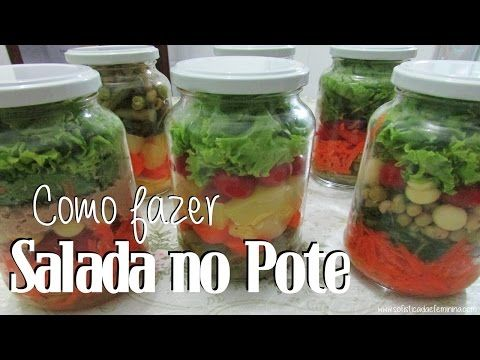 Como preparar Salada de pote - YouTube