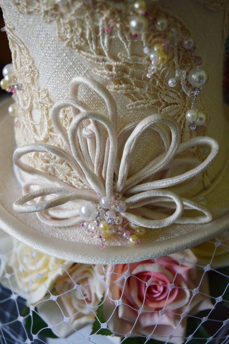 #Mini #Top #Hat #Wedding #Cream #Milliner:ToniSpence #Toowoomba #Millinery