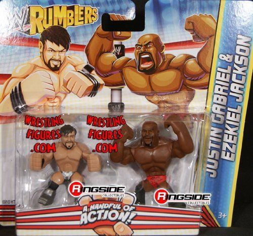 JUSTIN GABRIEL & EZEKIEL JACKSON - WWE RUMBLERS TOY WRESTLING ACTION FIGURES by MATTEL. $8.99. FIGURES ARE 2 INCHES TALL!. JUSTIN GABRIEL & EZEKIEL JACKSON - WWE RUMBLERS TOY WRESTLING ACTION FIGURES