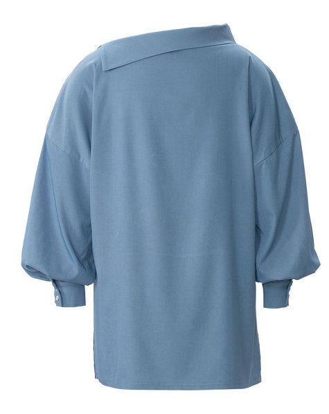 Asymmetric Collar Blouse (Plus Size) 04/2019 #127A 5