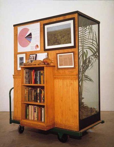 """Tropical Rain Forest Preserves"" (1989, remade 2003) by Mark Dion & William Schefferine (books side)"