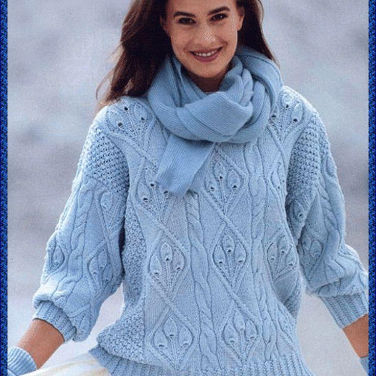 Красивейший пуловер своими руками. Вязание спицами