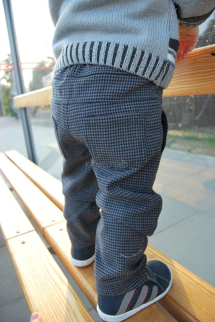 Kamelperd spodnie pepitka