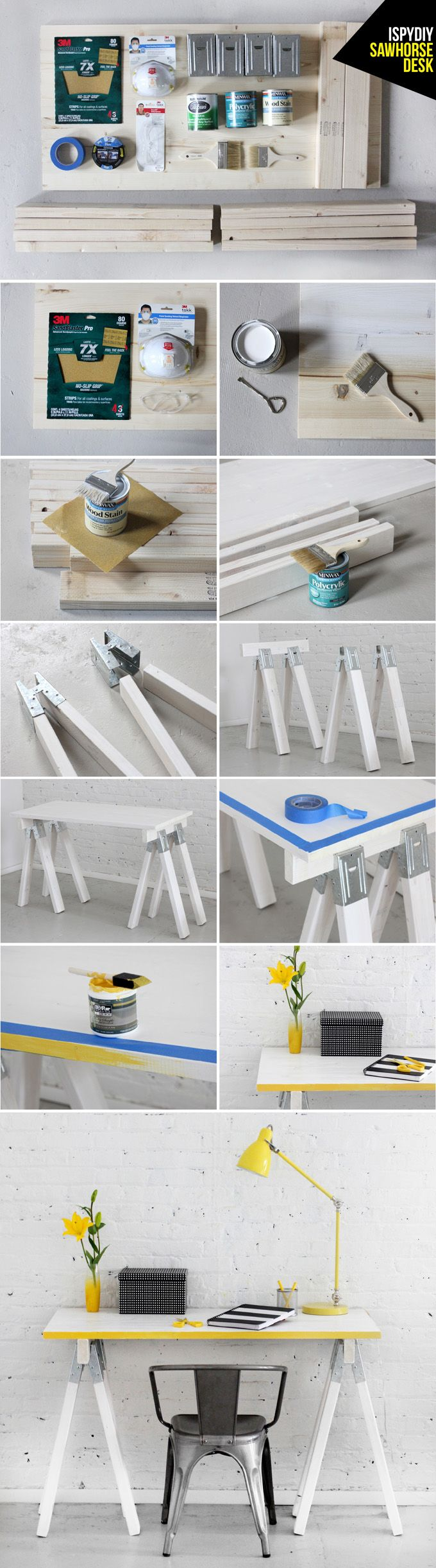 STEPS   Sawhorse Desk