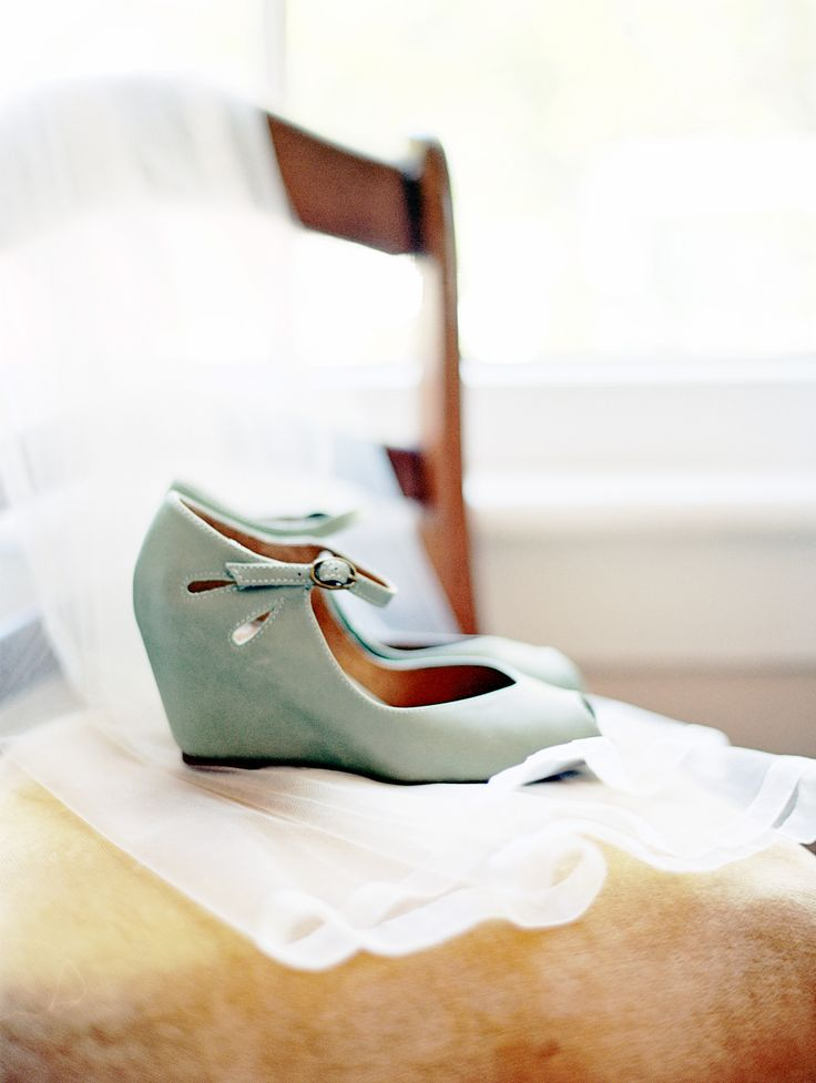 Mint wedges #shoes | St Augustine Florida Wedding from Julie Cate Photography  Read more - http://www.stylemepretty.com/florida-weddings/2013/10/30/st-augustine-florida-wedding-from-julie-cate-photography/