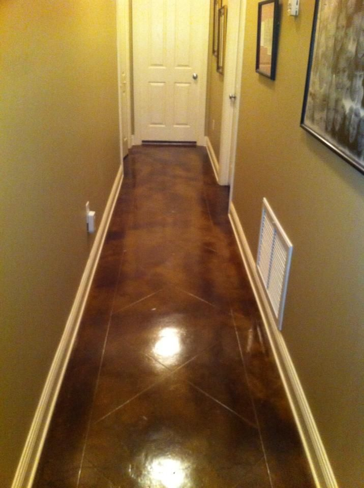 Awesome Concrete Overlay With Custom Design And Acid Stain In Mobile, Alabama    Foxcrete   Decorative