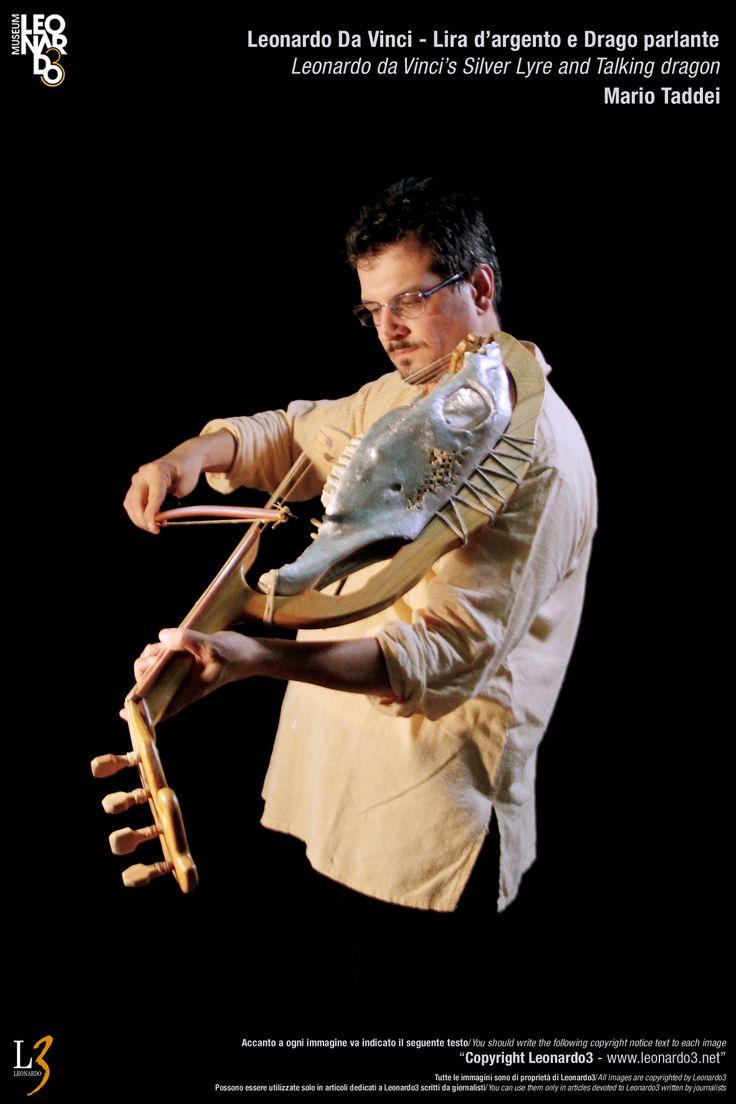 Lira da Braccio Leonardo Da Vinci Silver Lyre - Musical instrument  Lira d'argento di Leonardo Da Vinci / Dragolira  Mario Taddei - Leonardo3  www.Leonardo3.net DaVinci Museum Leonardo3