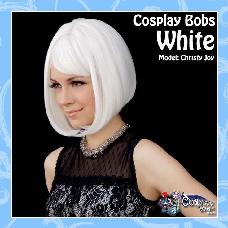 CosplayWigsUSA Store - Cosplay Bobs - White, $36.00 (http://cosplaywigsusa.com/cosplay-wigs-usa/cosplay-bobs-white/)
