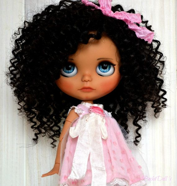 "RESERVE for Tantty Ooak Custom Blythe Doll Wefted Mohair ""Kisaii"" by BeckaDolls"