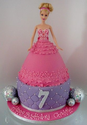 Birthday Cake Designs Barbie : 26 best Barbie cakes images on Pinterest Barbie cake ...