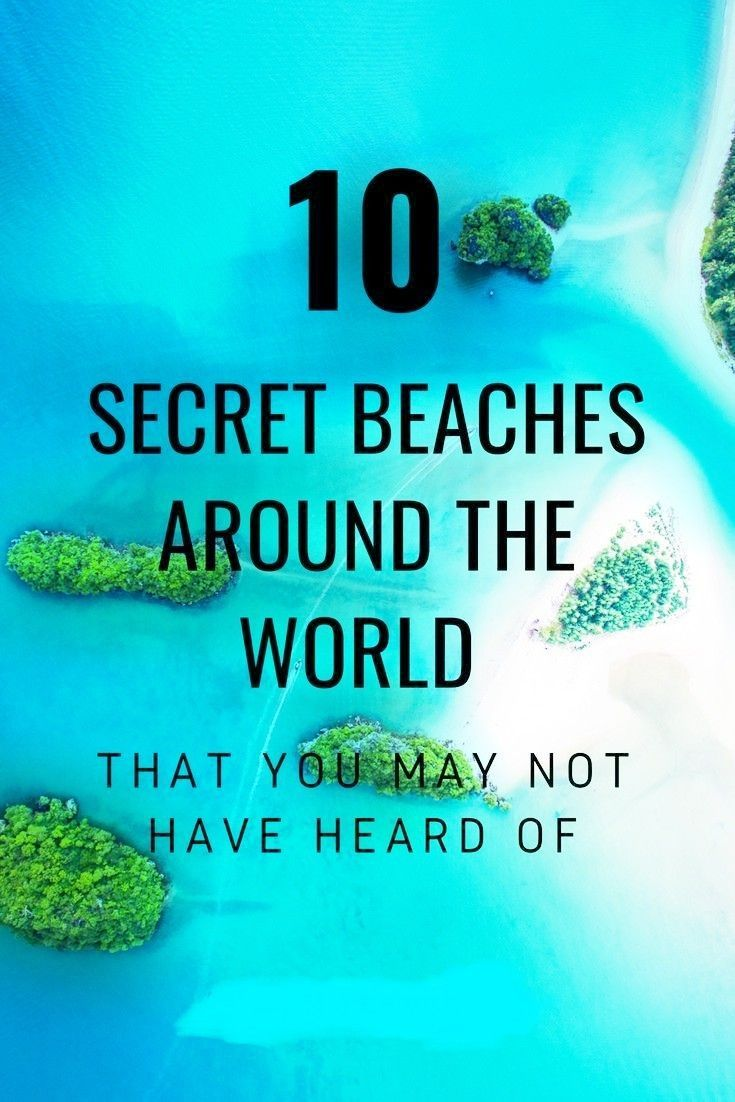 10 SECRET BEACHES AROUND THE WORLD 🌏🌏🌏