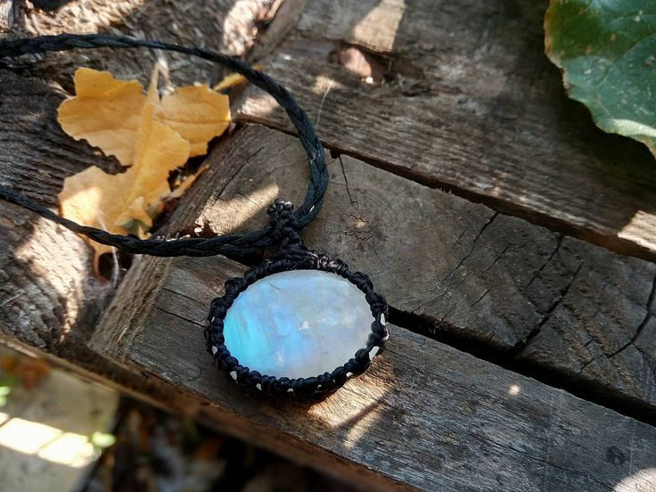 macrame rainbow moonstone necklace,moonstone choker,moonstone pendant