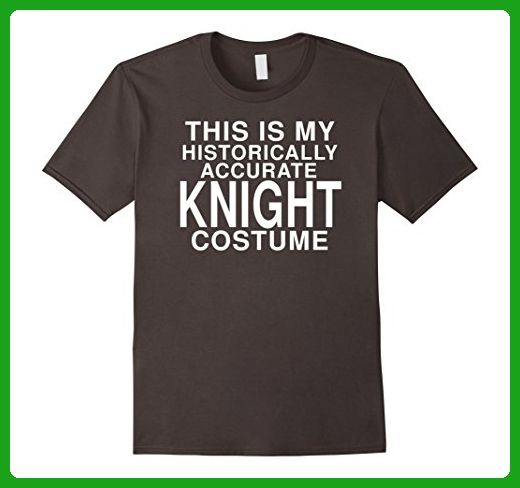 Mens This Is My Historical Knight Costume: Funny Halloween TShirt 2XL Asphalt - Holiday and seasonal shirts (*Amazon Partner-Link)