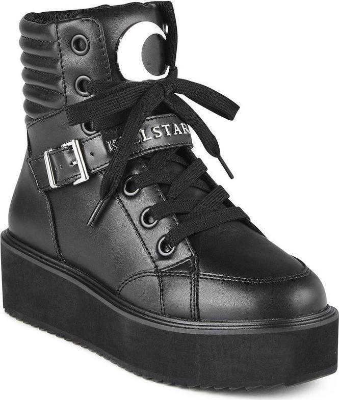 killstar luna high tops sneakers gothic footwear goth schuhe