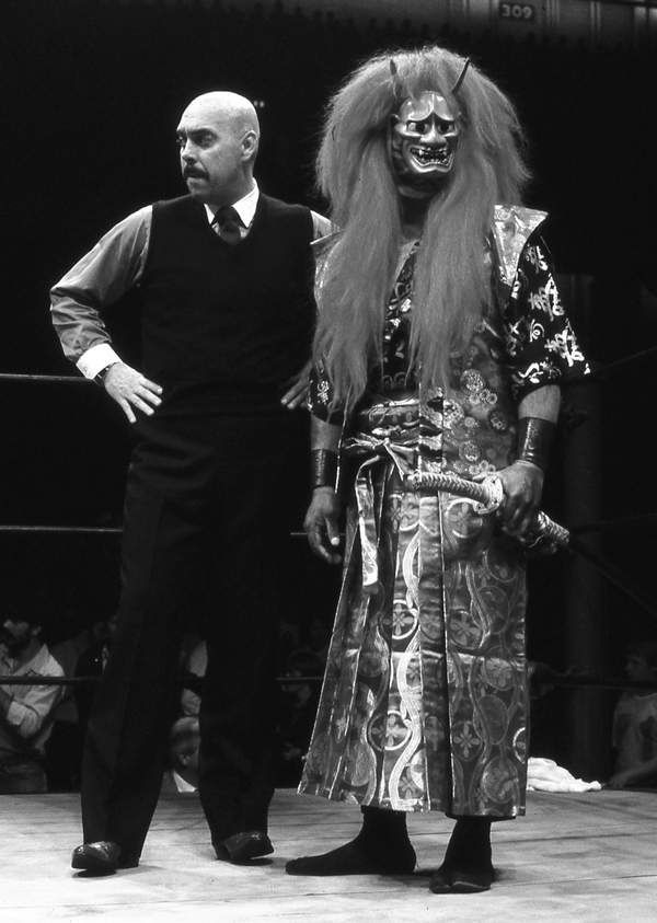 The Great Kabuki w/Gary Hart.  Two legends of Texas wrestling.