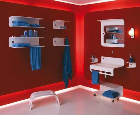 Blue and red bathroom color ideas images wow interiors bathrooms pinterest colors blue - Red bathroom color ideas ...