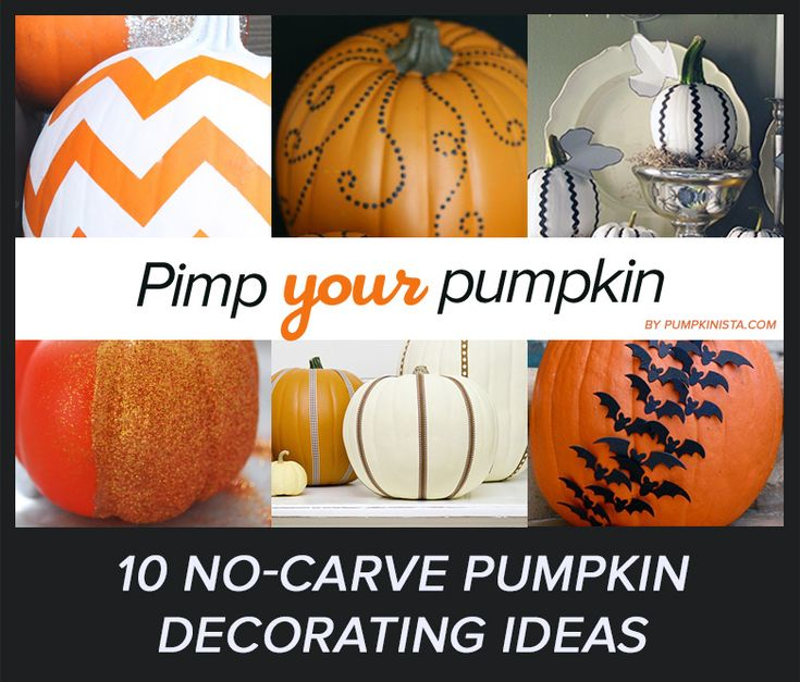 10 Simple No Carve Pumpkin Decorating Ideas Pumpkins