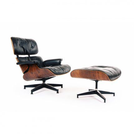 Maker: Herman Miller | USA  Designer: Charles and Ray Eames | USA  Date: 1958, 1960s Issue  Materials: Rosewood, Leather, Steel  Dimensions: Armchair W 840mm, D 740mm, H 845mm  Ottoman W 653mm, D 540mm, H 410mm     Description:  The model 670 Lounge Chair and 671 Ottoman by Ch