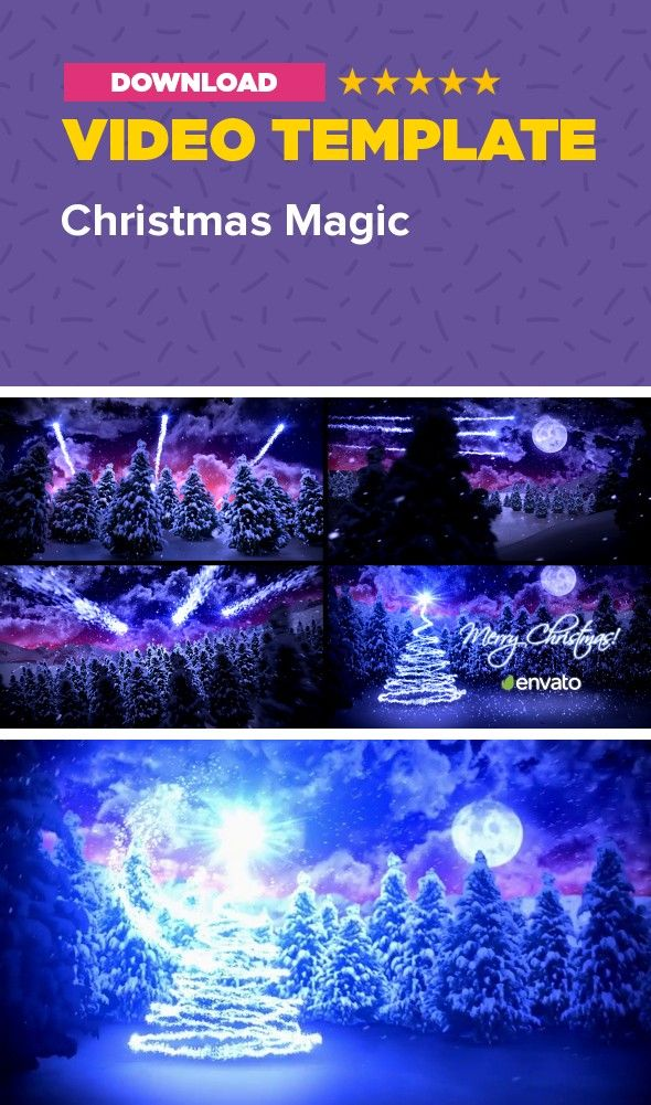 christmas, christmas greetings, Christmas magic, cinematic intro, countdown, happy new year, holiday, logo, magic, magical, merry christmas, new year, new year countdown, opener, xmas POPULAR TEMPLATES           Christmas Magic – Project details   Magical Christmas / New Year Greeting Card! Just drop your logo and type any text you want.    Project is completely created in After Effects and because of that, every single element in each of the scenes is editable.     NO PLUGINS required…