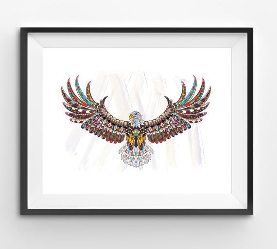 Colorful Eagle Art Eagle Wall Art Mosaic Eagle Print Animal