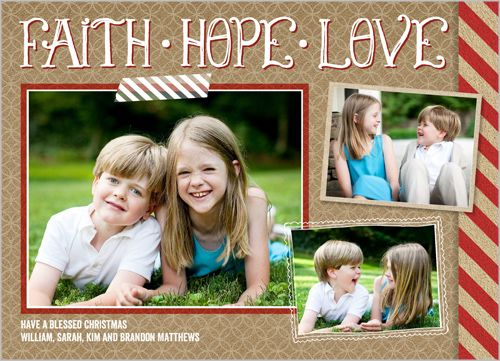 Faith Hope Love Collage 5x7 Photo Card by Shutterfly Christmas Card idea 2014