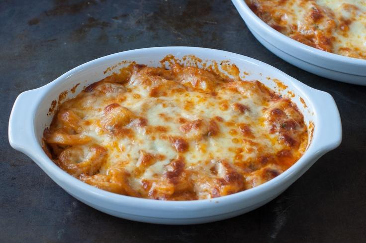 cheesy baked tortellini & homemade marinara sauce | Marin Mama Cooks