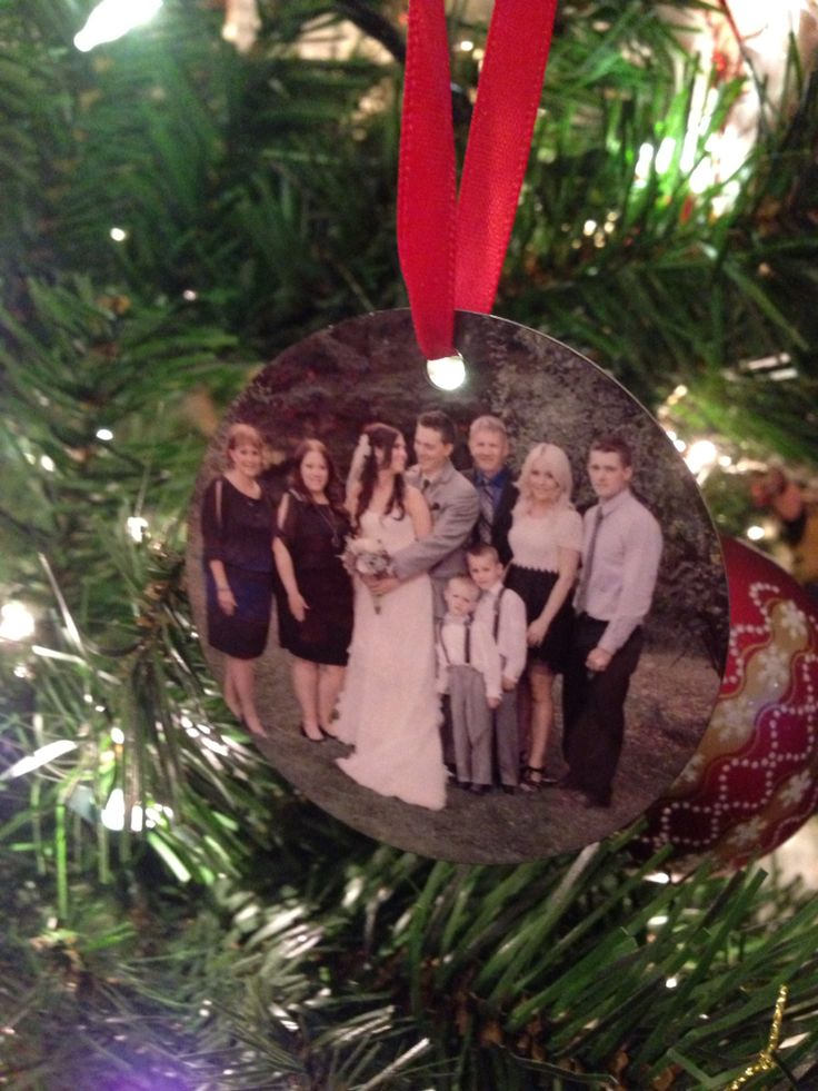 Photo Christmas Ornaments - two sided. Ordered from superstore photo lab - good quality! Makes a great gift
