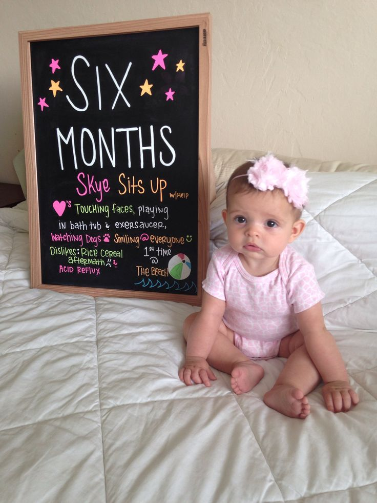 Baby Monthly Progress Chalkboard 6 Months Skye Paisley