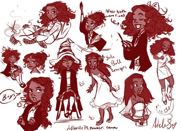 Hermione's race was never explicitly named, and we only have one vague reference of her skin color. Therefore, a racebent Hermione may not entirely be a headcanon of some fans.