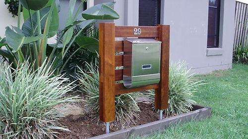 eBay Australia: Merbau timber letterbox