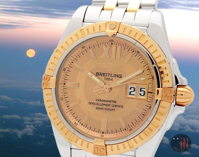 """""""Feels Calm Up Here!"""" #Breitling 41mm Crosswind Cockpit 18k Rose Gold Salmon Dial Ref#: C49350  ($5,755.00 USD) http://www.elementintime.com/Breitling-Crosswind-Cockpit-C49350-Stainless-Steel-18k-Rose-Gold-Preowned"""