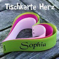 Tischkarte in Herzform - leicht und schnell gemacht *** heart shaped table cards for kids birthday party - quick and easy ❤️