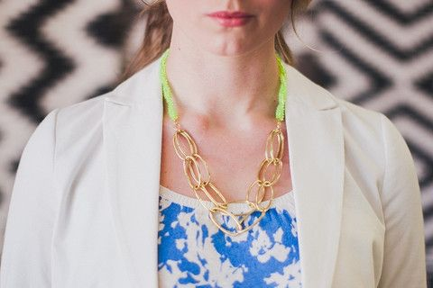 The Chain Necklace (lime)