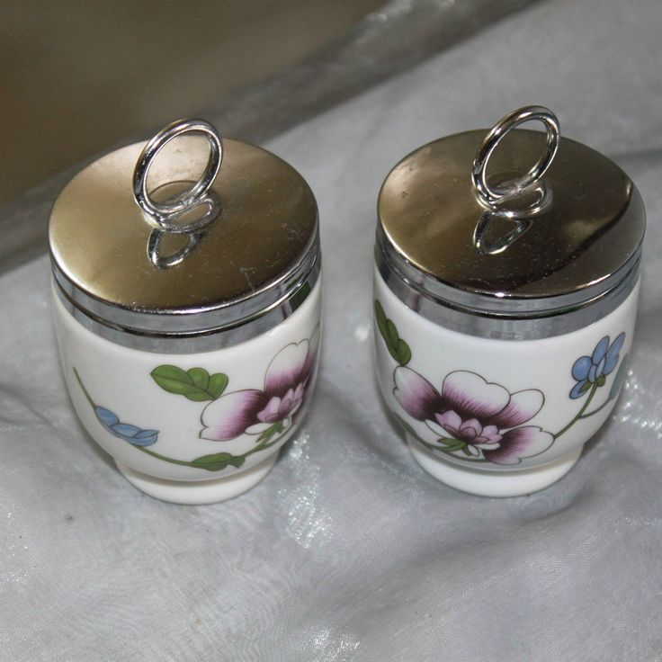 Pair of Porcelain Egg Coddler 'Astley' Floral Design by Royal Worcester of  Great Britain. Lovely Traditional English Kitchen Utensil by AtticBazaar on Etsy