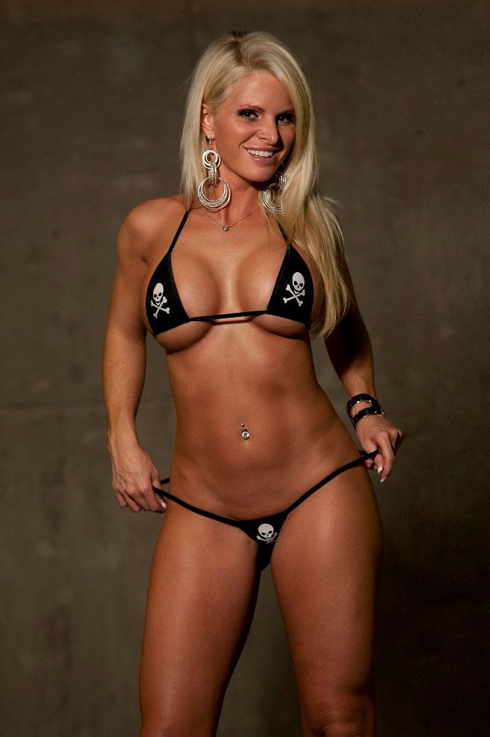 Pirate Skull and Crossbones Mini Micro G String Bikini 2pc ...