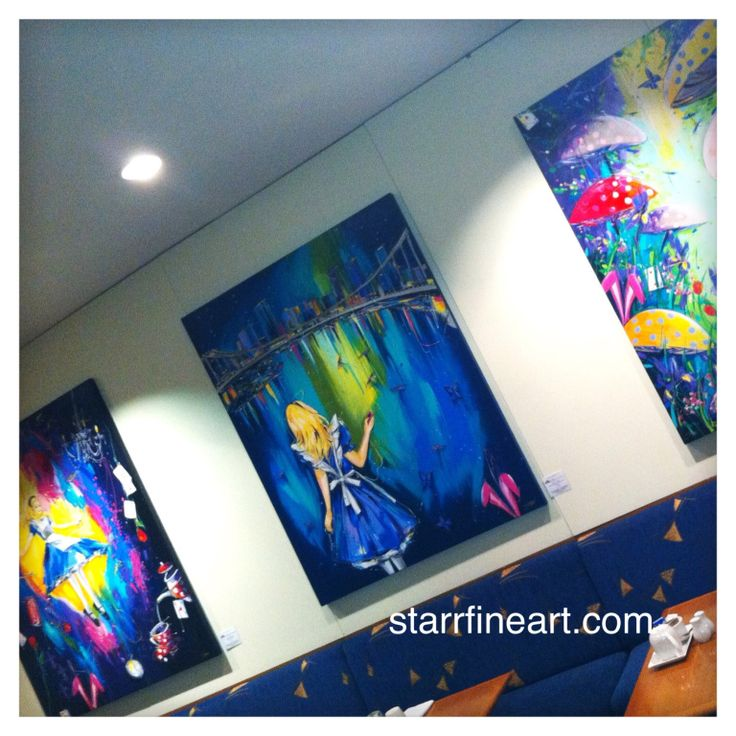 Alice series hanging at the Brisbane Hilton via the redhill gallery . www.starrfineart.com