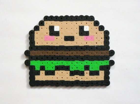 HAMBURGER with Lettuce // Blushing Kawaii door RainbowMoonShop