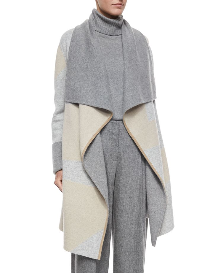 Reversible Cashmere Jacquard Long Cardigan, Women's, Size: X-LARGE16, Nickel Multi - Lafayette 148 New York