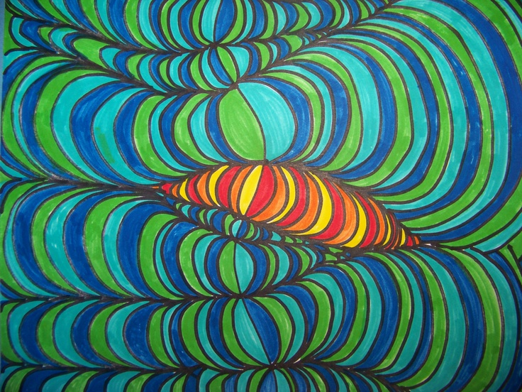 Op Art Line Design Lesson : Best curvey lines images op art education