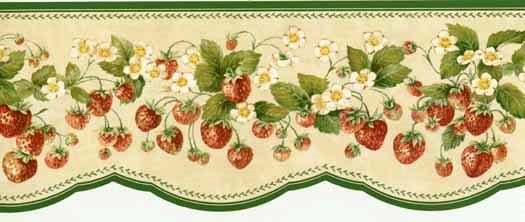 green vines of strawberries border  525 x 222