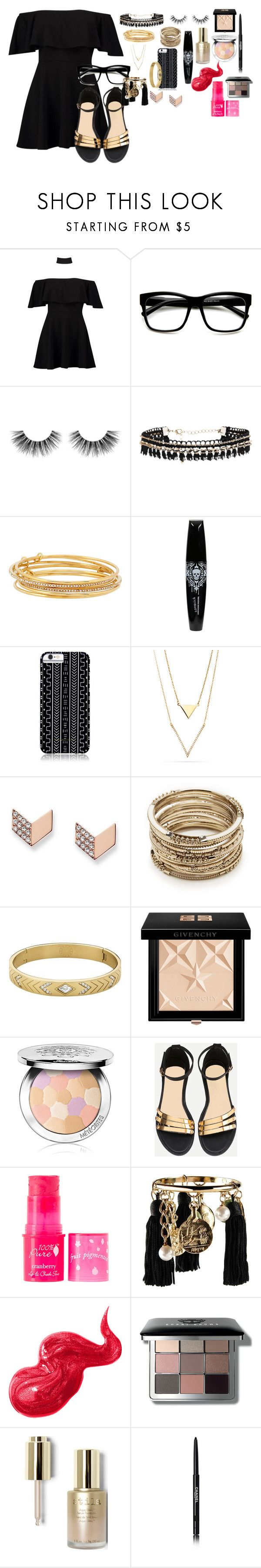 """""""Untitled #83"""" by style-koala ❤ liked on Polyvore featuring Boohoo, ZeroUV, Velour Lashes, Kate Spade, Hot Topic, Savannah Hayes, FOSSIL, Sole Society, Dyrberg/Kern and Givenchy"""