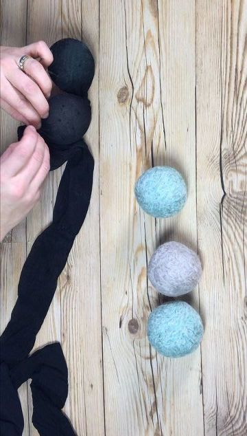 She tucks a ball of yarn in a stocking & we didn't know this trick