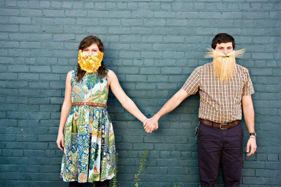 Flower Beard Halloween costume beard accessory by HomewardHandmade