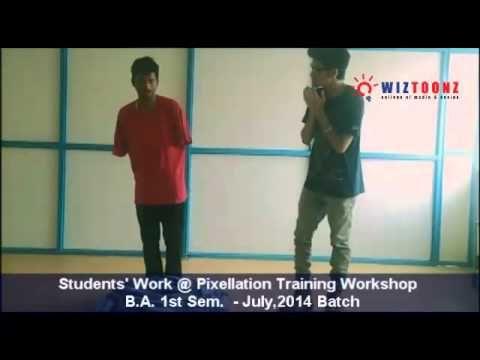 Student's Work - Pixelation Training Workshop - B.A. 1st Sem July,2014 batch  #Wiztoonz #Bangalore #Workshop #Students #Pixelation