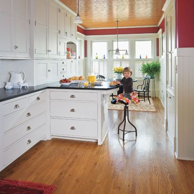 A Cramped Kitchen Opens Up To Make Room For The Whole Family