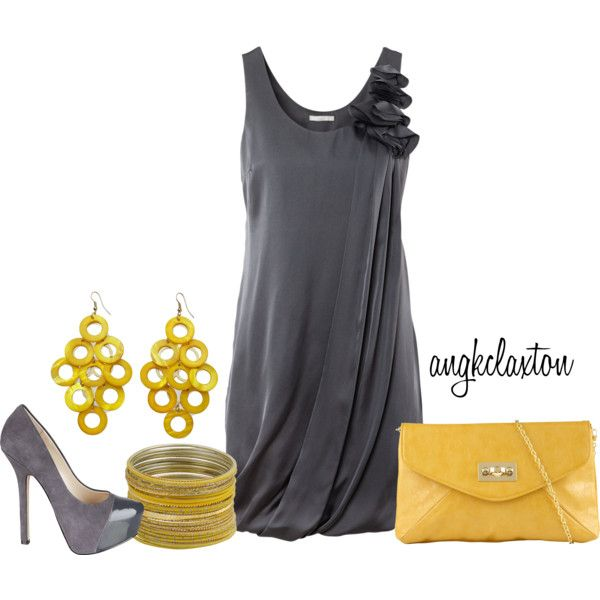 Yellow Accessories With Grey