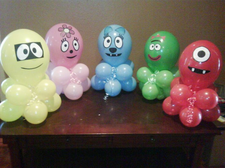 yo gabba gabba balloon centerpieces | Juju-Bee's Balloon Decorating